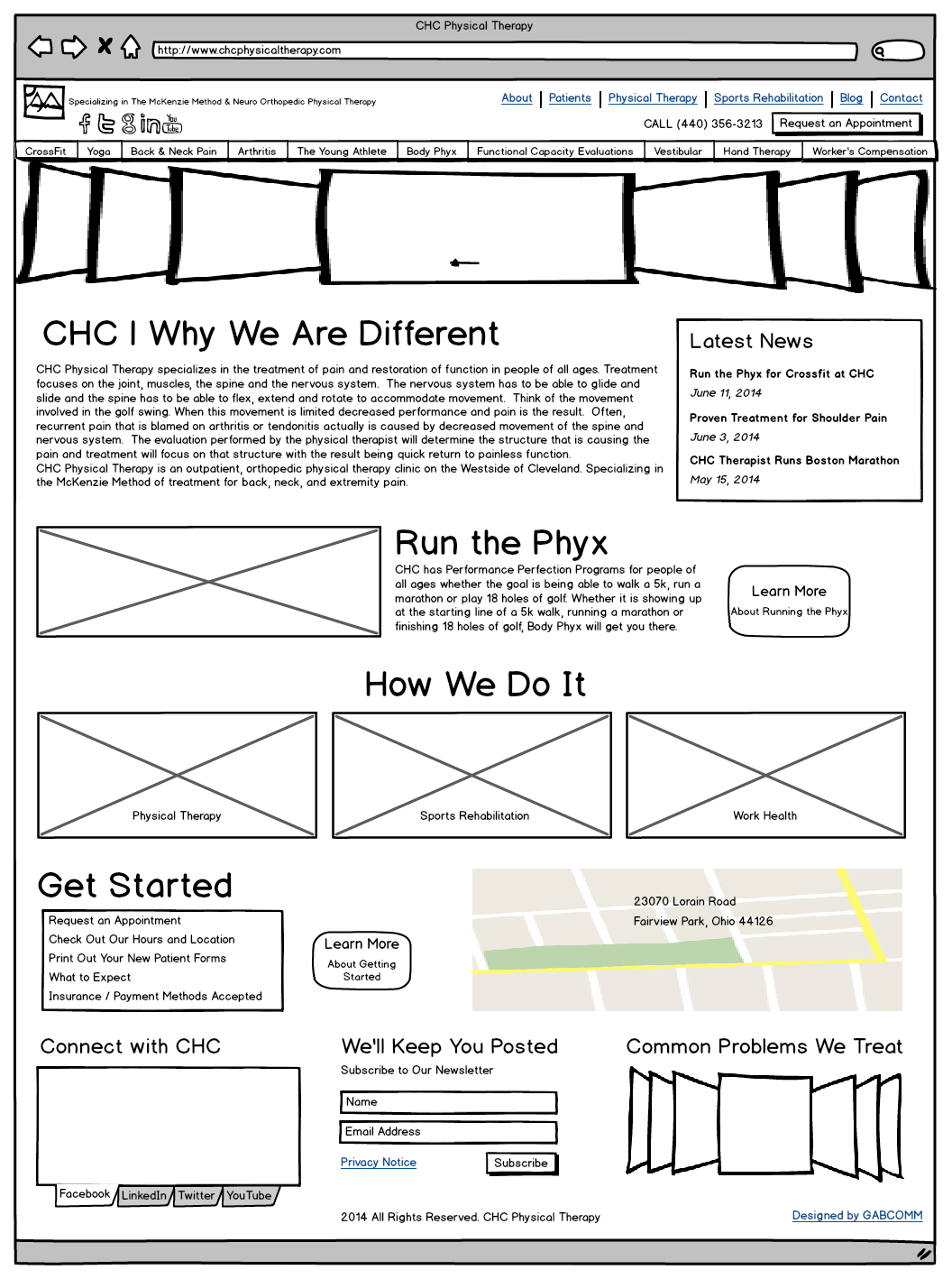 Balsamiq mockup for CHC Version 2 After Client Meeting